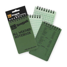 Snugpak All Weather Notebook, Large 3inx5in -OD Green outdoor survival recon NEW