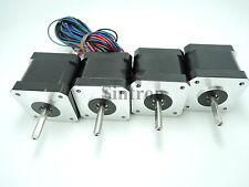 NEW! 4pcs NEMA 17 1.8° 2.6 kg.cm flat shaft Stepper Motor for 3D Printer RepRap