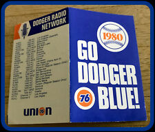 1980 LOS ANGELES DODGERS UNION 76 BASEBALL POCKET SCHEDULE