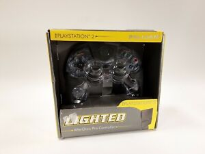 Pelican After Glow Blue Lighted Wired Controller Sony PlayStation 2 NEW    (F12)