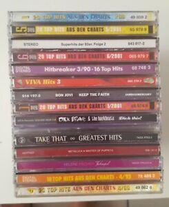 15 CDs, u.a. Metallica, Helene Fischer, 80er, Bon Jovi, Chartbox 20 Tophits...