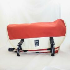 Chrome Paprika Orange & White Large Bike Messenger Crossbody Bag 0811AL