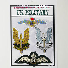 """SAS """"SPECIAL AIR SERVICE"""" & RAF Iron-On Patch Super Set #087 - FREE POSTAGE!"""