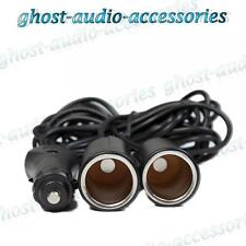 2M Dual 12v DC Power Splitter Lead Cable Cigar Adaptor Cigarette Socket Lighter
