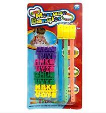 Message Bangles Colored Letter Bracelet Toy
