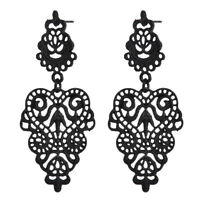 3Colors Women Bohemian Earrings Leaf Studs Long Dangle Drop Hook Jewelry 1pair