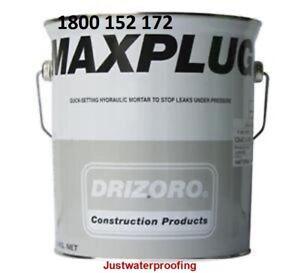 DRIZORO MAXPLUG 5KG STOPS LEAKS UNDER PRESSURE WATERPROOFING HYDRAULIC MORTAR