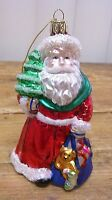 Santa Claus Gift PresentsTree Glass Christmas Ornament