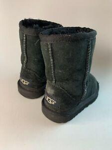 Black Ugg Boots Toddler Girls Size Uk5 Genuine