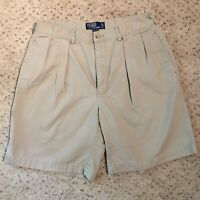 POLO RALPH LAUREN Pleated Front Beige Shorts Size 36