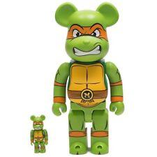 Medicom Be@Rbrick Tmnt Michelangelo 100% 400% Bearbrick Figure Set