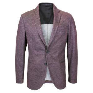 Hugo Boss - Norwin3-J Slim Fit Tweed Burgundy Blazer - 48/UK38 - RRP £449