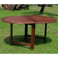 International Caravan Highland Acacia Miami Leg Folding Dining Table, Brown