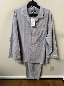 Roundtree & Yorke Multicolor Stripped 2pc Pajama Set Big&Tall XLT,2XB,4XB NWT