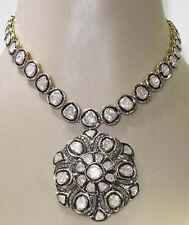 Polki Necklace Set Jewelry 925k Gold Rosecut Diamond