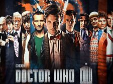 Dr Who Velveteen Throw Blanket 11 Doctors (Brand New no tag)