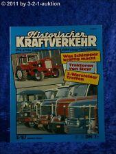 Historischer Kraftverkehr 5/87 Steyr Traktoren