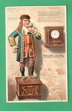 VINTAGE MECHANICAL POSTCARD DWARF PERKEO HEIDELBERG CASTLE CLOCK- ANIMAL TAIL!