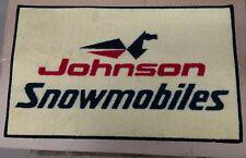 Johnson Snowmobile Vintage Retro logo door mat ski horse