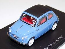 1/43 Spark  Fiat 500 Nuova from 1957 in Blue  S2690