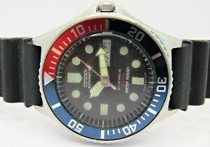 Citizen 8200 'SKIN DIVER' 21 Jewel Automatic 4-822145 WR200M 'PEPSI' Mens Watch