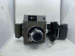 Mamiya Press Medium Format w/ Sekor 90mm f3.5 Grip 2 Backs From USA Untested