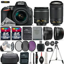 Nikon D5600 Digital SLR Camera + 18-55mm VR + Nikon AF P 70-300mm VR -4 Lens Kit