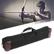 Traditional Archery Back Arrow Quiver Hunting Recurve Bow Bag Case Holder Black