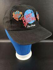 Vintage Planet Hollywood New Orleans Pin/Pinback Black Baseball Cap Hat