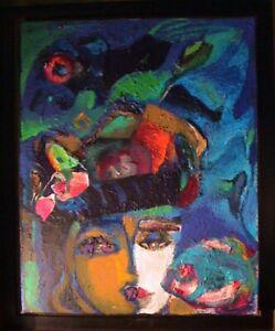 Peinture sur toile Matilde GRANT Signé et Daté 91