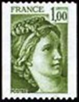 "FRANCE STAMP TIMBRE N° 1981A "" SABINE , ROULETTES 1F VERT "" NEUF xx TTB"