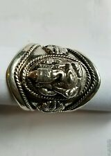 Ganesh adjustable silver ring
