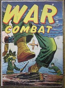 WAR COMBAT #2 (ATLAS, 5/1952) GOOD Berg, Brodsky!