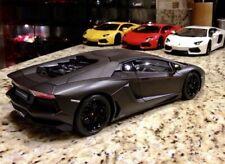 1/18 Lamborghini Aventador LP700-4 Welly FX Matte Black No Autoart -USA Shipping