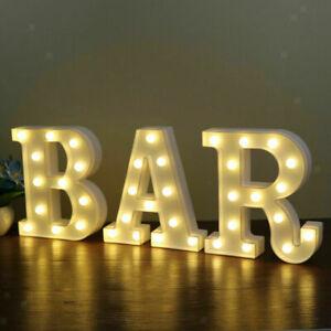 Light Up LED Alphabet Letters Numbers Standing Sign Light for Bar Home Decor UK