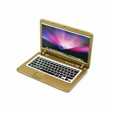 Accessories Miniature Dollhouse laptop Computer Apple Macbook Air Size Gold