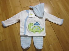 new baby boy NEWBORN 3-pieces outfit set top shirt pants bottom hat cap