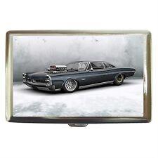 Black Car Stainless Cigarette Money Card Case Box