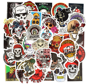 50 Skull Pirate Goth Horror Skateboard Stickers For Laptop Phone Stickerbomb