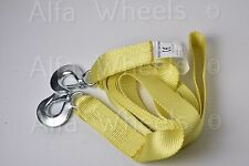 Y7 - Heavy Duty 10000 Lbs Tow Strap 2 in x 20 ft with Safety Metal Hooks