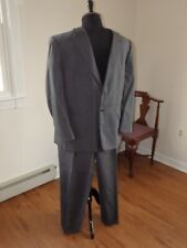Jeffrey Banks grey pinstripe 2 pc dress suit 50R 48 x 30