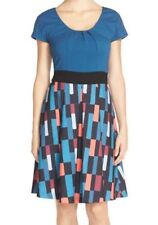 Anthropologie Tracy Reese Plenty Dress Sondra Bright Tiles Sz 4 Fit & Flare