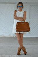ZARA LEATHER STUDDED ANKLE BOOTS CAMEL 6USA/3UK/36EUROPE BLOGGERS FAVORITE