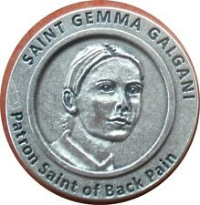 Saint St. Gemma Galgani Holy Prayer Coin Token + Back Pain + Stigmatist