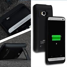 3200mAh For HTC One M7 Power Backup Extended Battery Case Cover Stand Charger