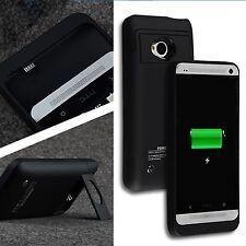 3200mAh para HTC One M7 Power Batería extendida de Respaldo Estuche Cubierta Soporte Cargador
