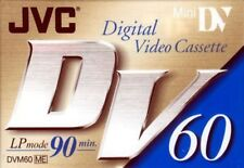 JVC Mini DV Digital Video Cassette Tape 60 Min Dvm60 Me Lp90