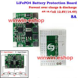 4S 8A BMS Circuit Protection PCB Board 18650 12.8V 14.4V  LiFePO4 Battery Packs
