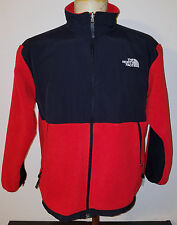North Face Boys Denali Fleece Jacket Youth XL Red Black