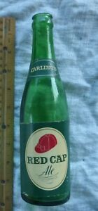 Vintage Carling's  Red Cap Ale Green Made In Canada Canadian Bottle  L 12  8
